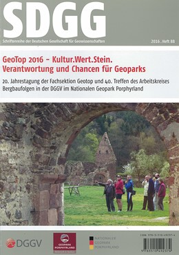 Abbildung von Heß / Rascher / Zellmer | GeoTop 2016 - Kultur.Wert.Stein, Verantwortung und Chancen für Geoparks | 2016 | 20. Internationale Jahrestagun... | 88