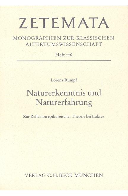 Cover: Lorenz Rumpf, Naturerkenntnis und Naturerfahrung