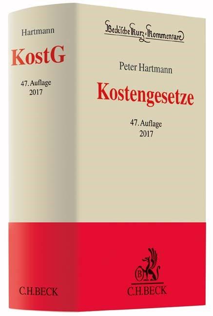 Kostengesetze: KostG | Hartmann | Buch (Cover)