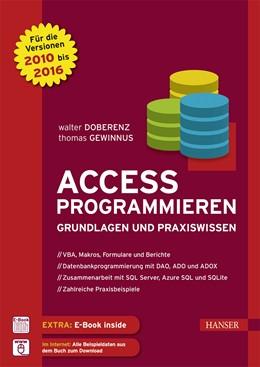 Abbildung von Doberenz / Gewinnus | Access programmieren | 2016 | Grundlagen und Praxiswissen. F...