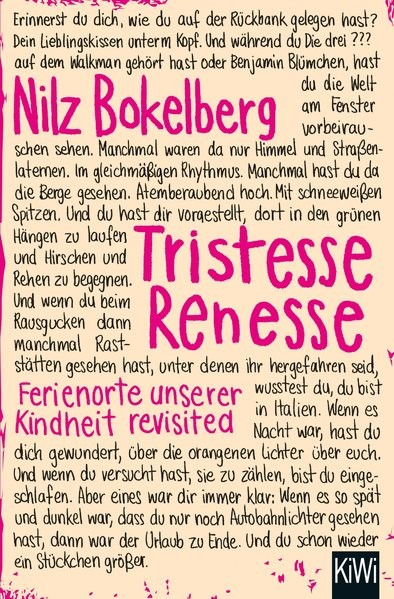 Tristesse Renesse | Bokelberg, 2016 | Buch (Cover)