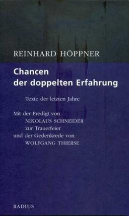 Abbildung von Höppner   Chancen der doppelten Erfahrung   2016   Texte der letzten Jahre. Mit d...