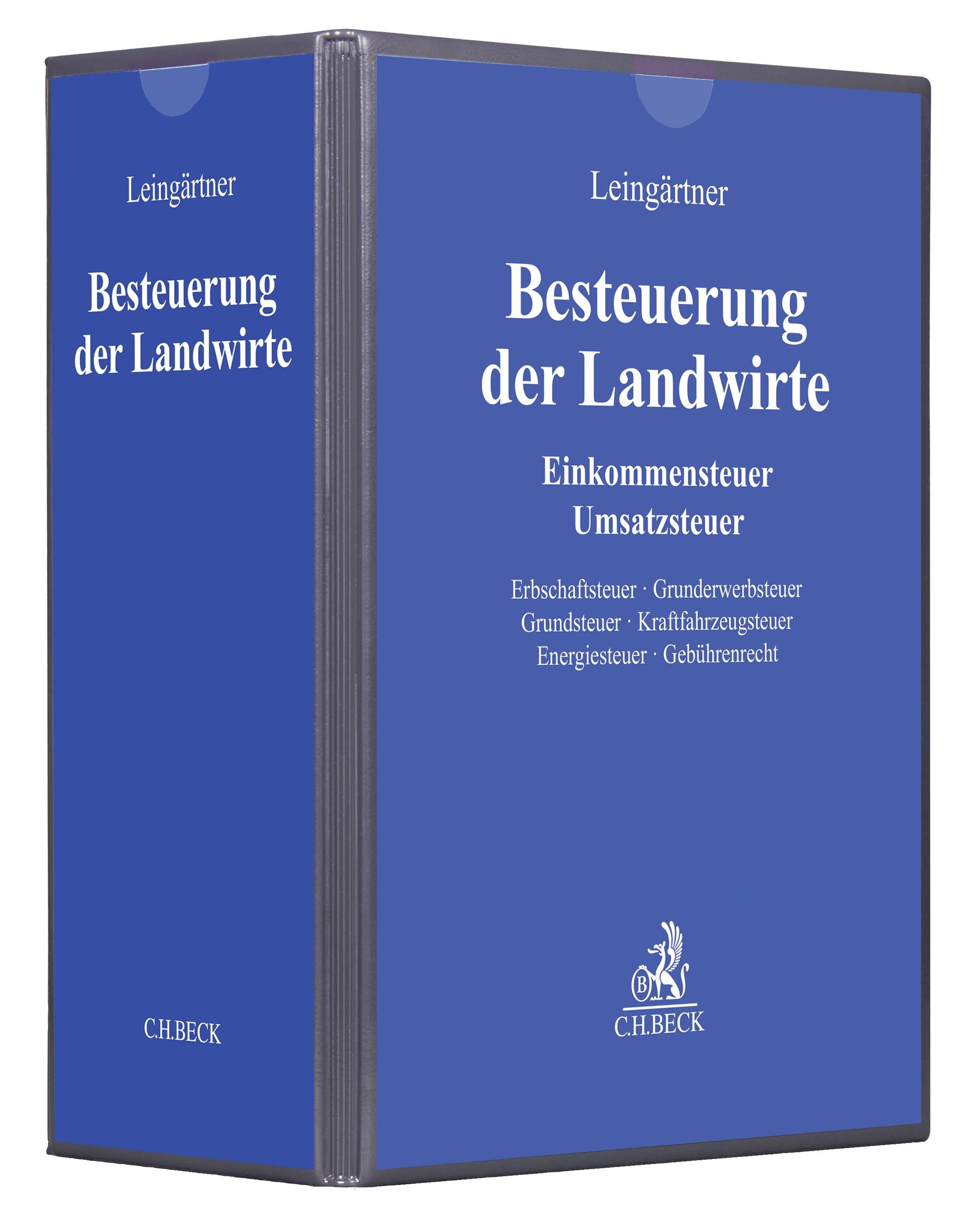 Besteuerung der Landwirte | Leingärtner | 33. Auflage (Cover)