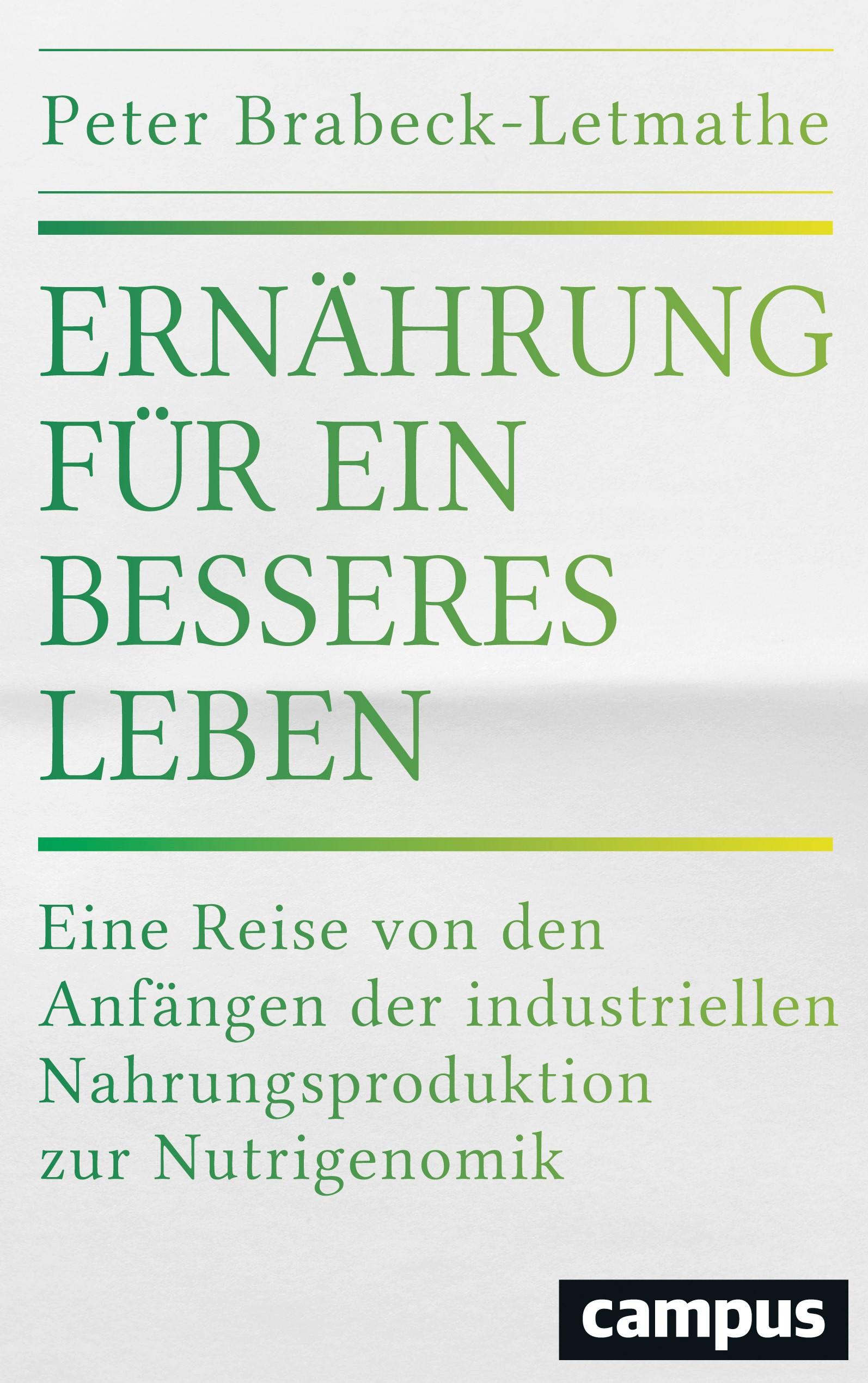 Ernährung für ein besseres Leben | Brabeck-Letmathe, 2016 | Buch (Cover)