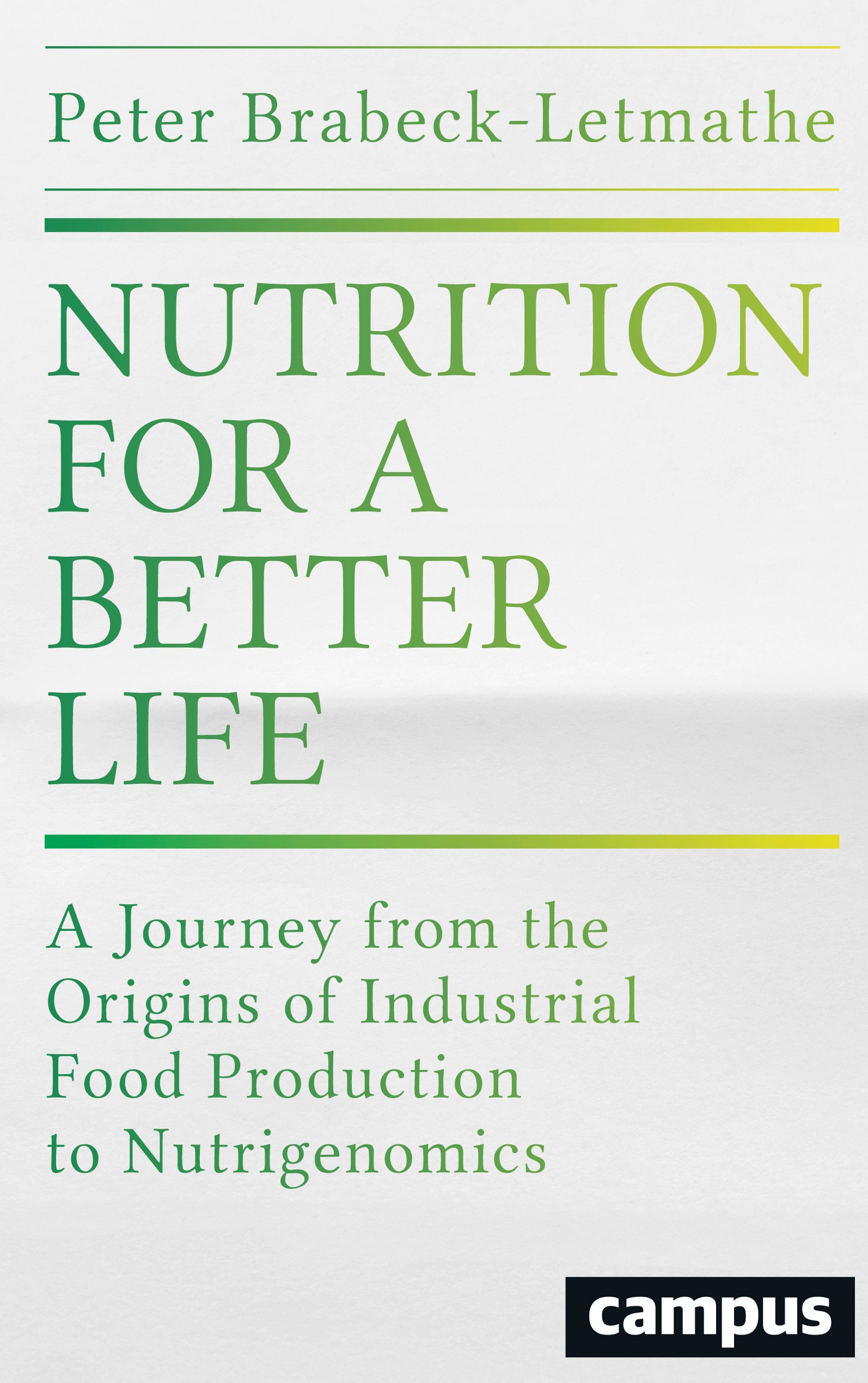 Nutrition for a Better Life | Brabeck-Letmathe, 2016 | Buch (Cover)