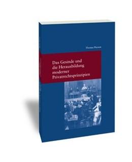 Abbildung von Pierson | Das Gesinde und die Herausbildung moderner Privatrechtsprinzipien | 1. Auflage 2016 | 2016