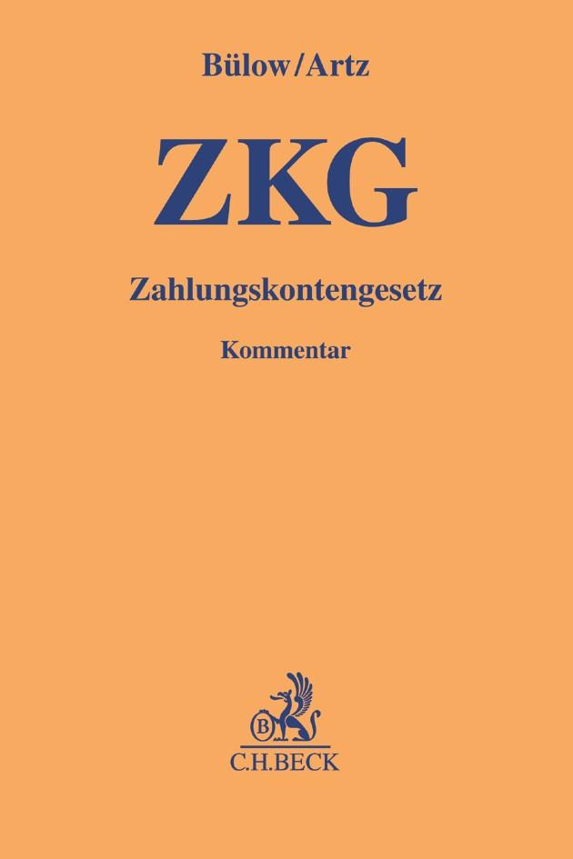 Zahlungskontengesetz (ZKG) | Bülow / Artz, 2017 | Buch (Cover)