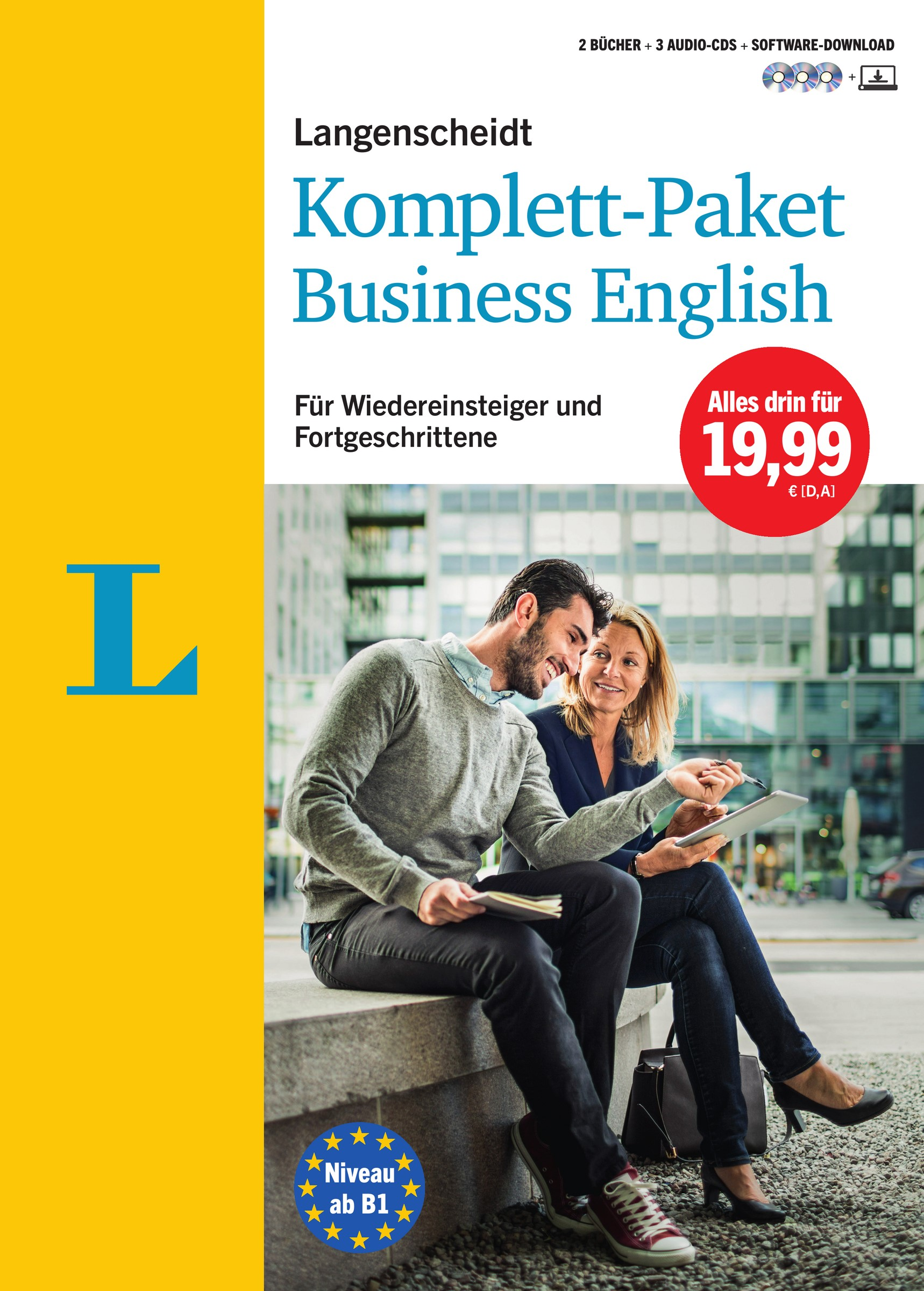 Langenscheidt Komplett-Paket Business English - Sprachkurs mit 2 Büchern, 3 Audio-CDs und Software-Download | Bradbeer / Langenscheidt, 2016 | Buch (Cover)