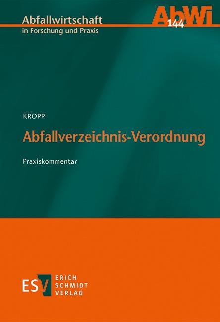 Abfallverzeichnis-Verordnung   Kropp, 2016   Buch (Cover)
