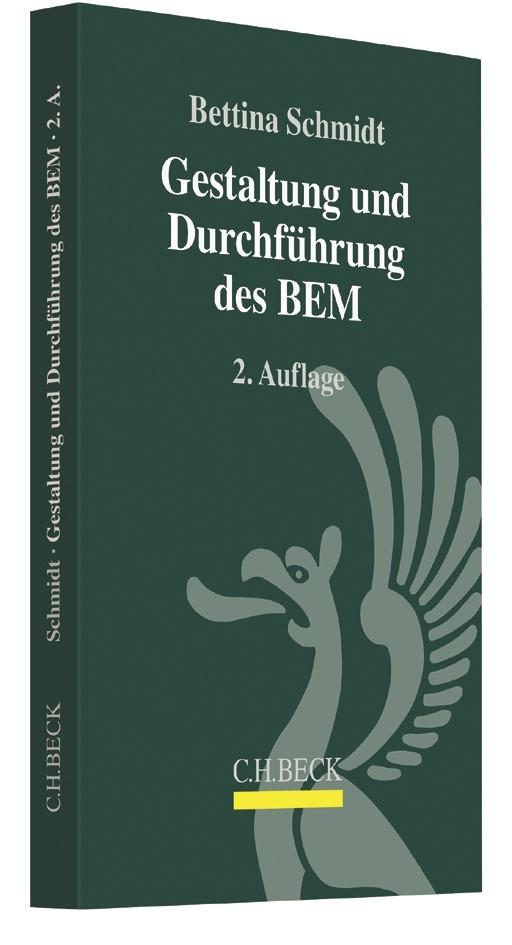 Gestaltung und Durchführung des BEM | Schmidt | 2. Auflage, 2017 | Buch (Cover)