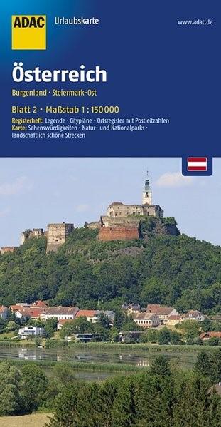 ADAC UrlaubsKarte Österreich 02: Burgenland, Steiermark-Ost 1 : 150 000 | 3. Auflage, 2016 (Cover)