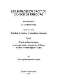 Abbildung von Lionel / Utz Tremp   Registrum Lombardorum   SDS FR I/3/7   2016