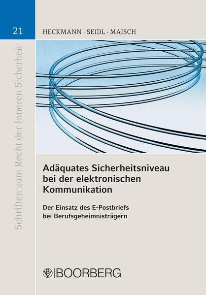 Adäquates Sicherheitsniveau bei der elektronischen Kommunikation, 2014 (Cover)