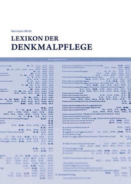 Abbildung von Wirth   Lexikon der Denkmalpflege   2016