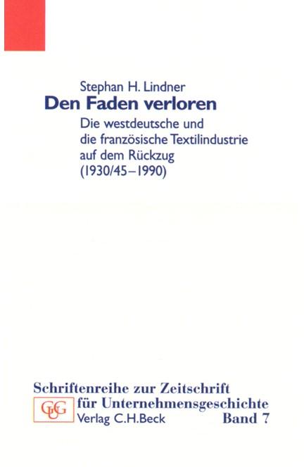 Cover: Stephan H. Lindner, Den Faden verloren