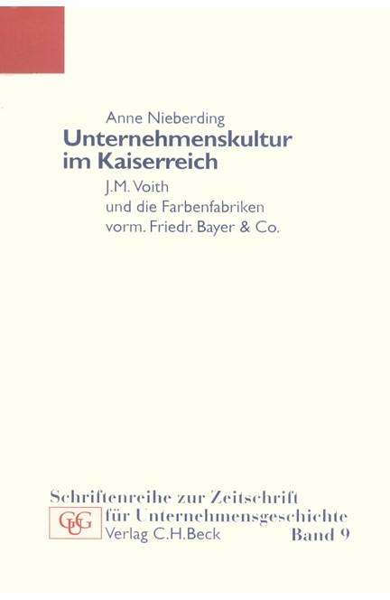 Cover: Anne Nieberding, Unternehmenskultur im Kaiserreich