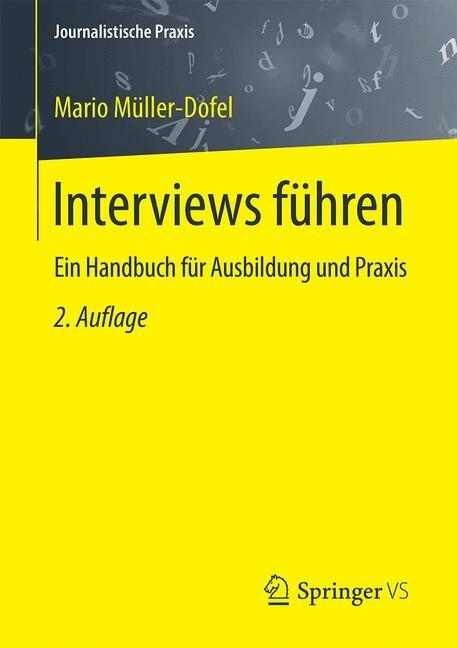 Interviews führen | Müller-Dofel | 2. Auflage, 2016 | Buch (Cover)