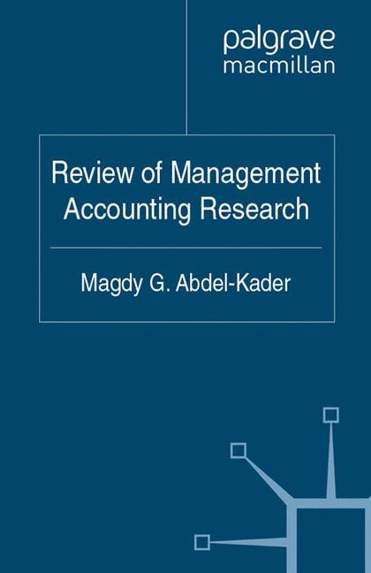 Review of Management Accounting Research | Abdel-Kader | 1st ed. 2011, 2011 | Buch (Cover)