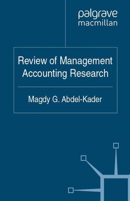 Abbildung von Abdel-Kader | Review of Management Accounting Research | 1st ed. 2011 | 2011