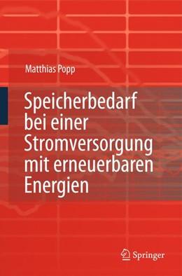 Abbildung von Popp | Speicherbedarf bei einer Stromversorgung mit erneuerbaren Energien | 2010