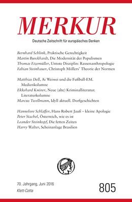 Abbildung von Demand   MERKUR Deutsche Zeitschrift für europäisches Denken. Nr. 805, Heft Juni 2016   1. Auflage   2016   beck-shop.de