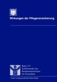 Abbildung von / Schneekloth / Müller   Wirkungen der Pflegeversicherung   2000