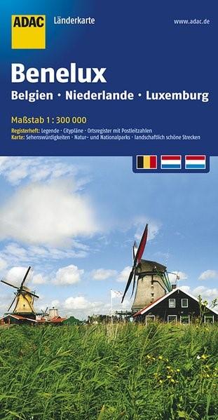ADAC LänderKarte Benelux 1 : 300 000 | 5. Auflage, 2016 (Cover)