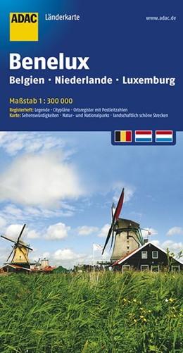 Abbildung von ADAC LänderKarte Benelux 1 : 300 000 | 5. Auflage | 2016 | Belgien, Niederlande und Luxem...