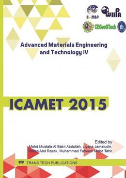 Abbildung von Al Bakri Abdullah / Jamaludin / Abd Razak / Mohd Tahir | Advanced Materials Engineering and Technology IV | 2016 | Volume 857
