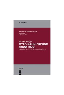 Abbildung von Ludyga | Otto Kahn-Freund (1900–1979) | 1. Auflage | 2016 | 16 | beck-shop.de