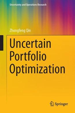 Abbildung von Qin   Uncertain Portfolio Optimization   1. Auflage   2016   beck-shop.de