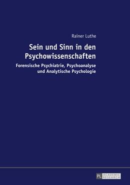 Abbildung von Luthe | Sein und Sinn in den Psychowissenschaften | 1. Auflage | 2016 | beck-shop.de