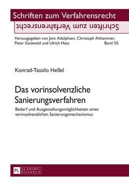 Abbildung von Heßel | Das vorinsolvenzliche Sanierungsverfahren | 2016