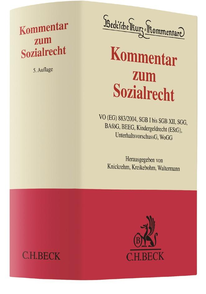 Kommentar zum Sozialrecht | Knickrehm / Kreikebohm / Waltermann | 5. Auflage, 2017 | Buch (Cover)