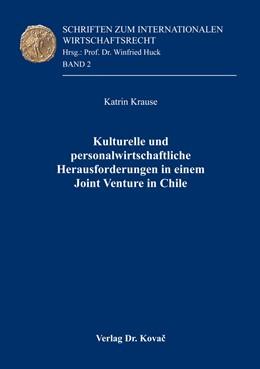 Abbildung von Krause | Kulturelle und personalwirtschaftliche Herausforderungen in einem Joint Venture in Chile | 1. Auflage | 2016 | 2 | beck-shop.de