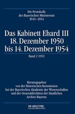 Das Kabinett Ehard III, 2017 | Buch (Cover)