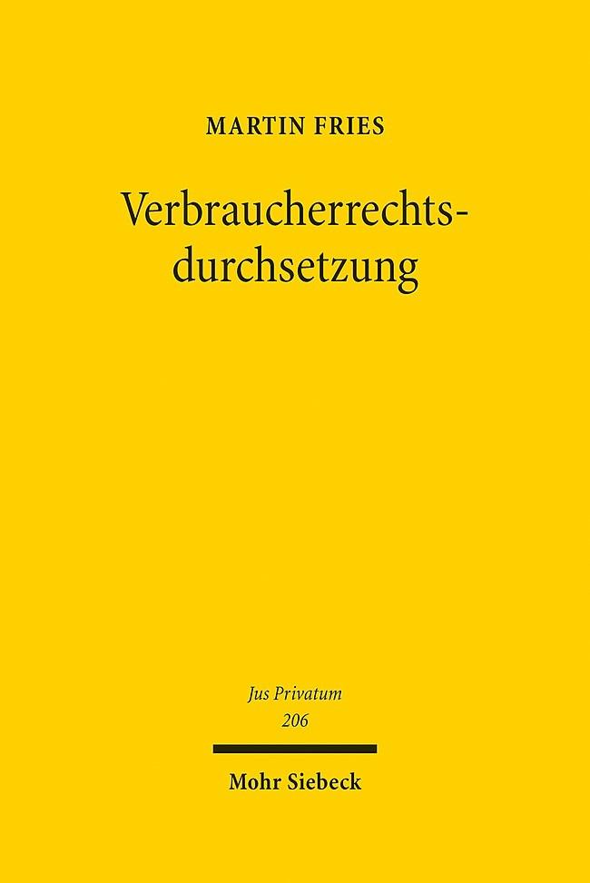 Abbildung von Fries | Verbraucherrechtsdurchsetzung | 2016