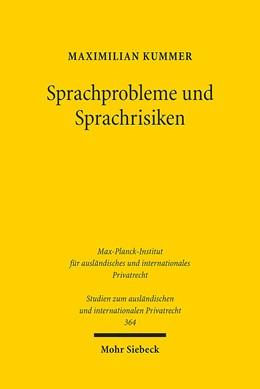 Abbildung von Kummer | Sprachprobleme und Sprachrisiken | 1. Auflage | 2016 | 364 | beck-shop.de