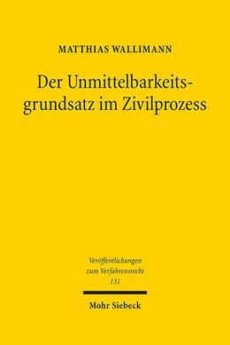 Abbildung von Wallimann | Der Unmittelbarkeitsgrundsatz im Zivilprozess | 1. Auflage | 2016 | 131 | beck-shop.de