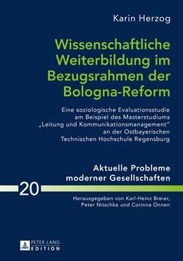 Abbildung von Herzog | Wissenschaftliche Weiterbildung im Bezugsrahmen der Bologna-Reform | 2016 | Eine soziologische Evaluations...