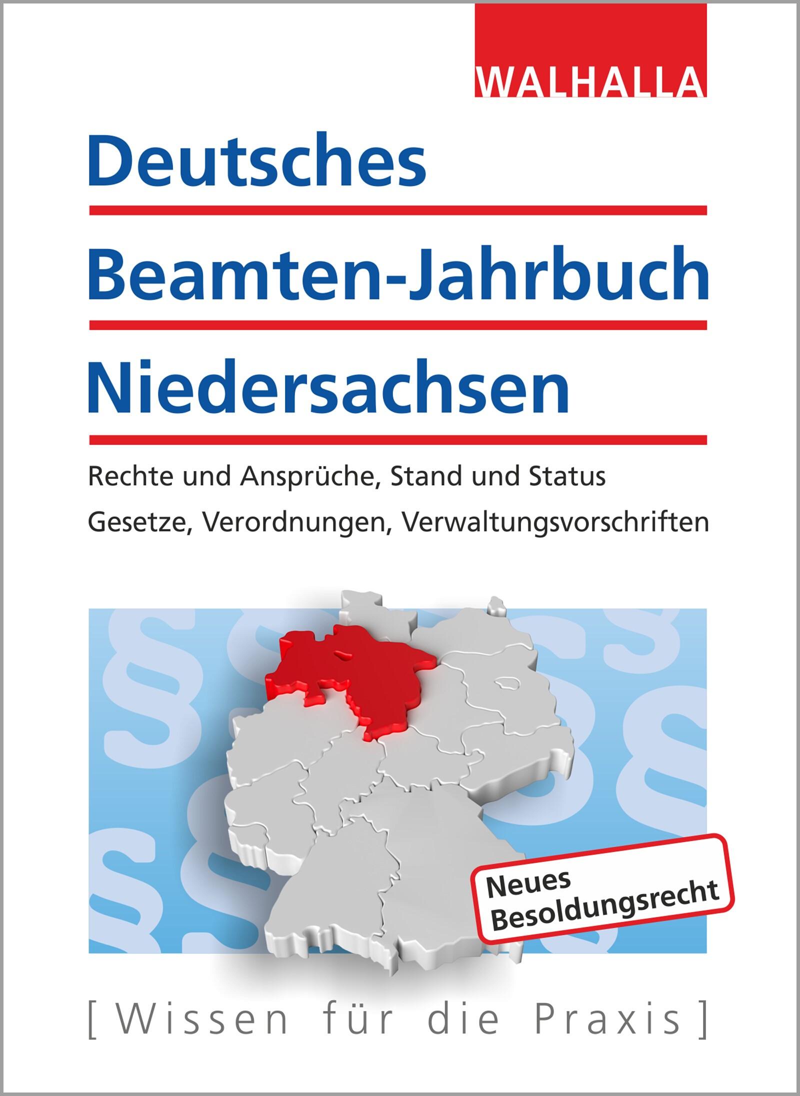 Deutsches Beamten-Jahrbuch Niedersachsen Jahresband 2017 | Walhalla Fachredaktion | 9. Auflage, 2017 | Buch (Cover)