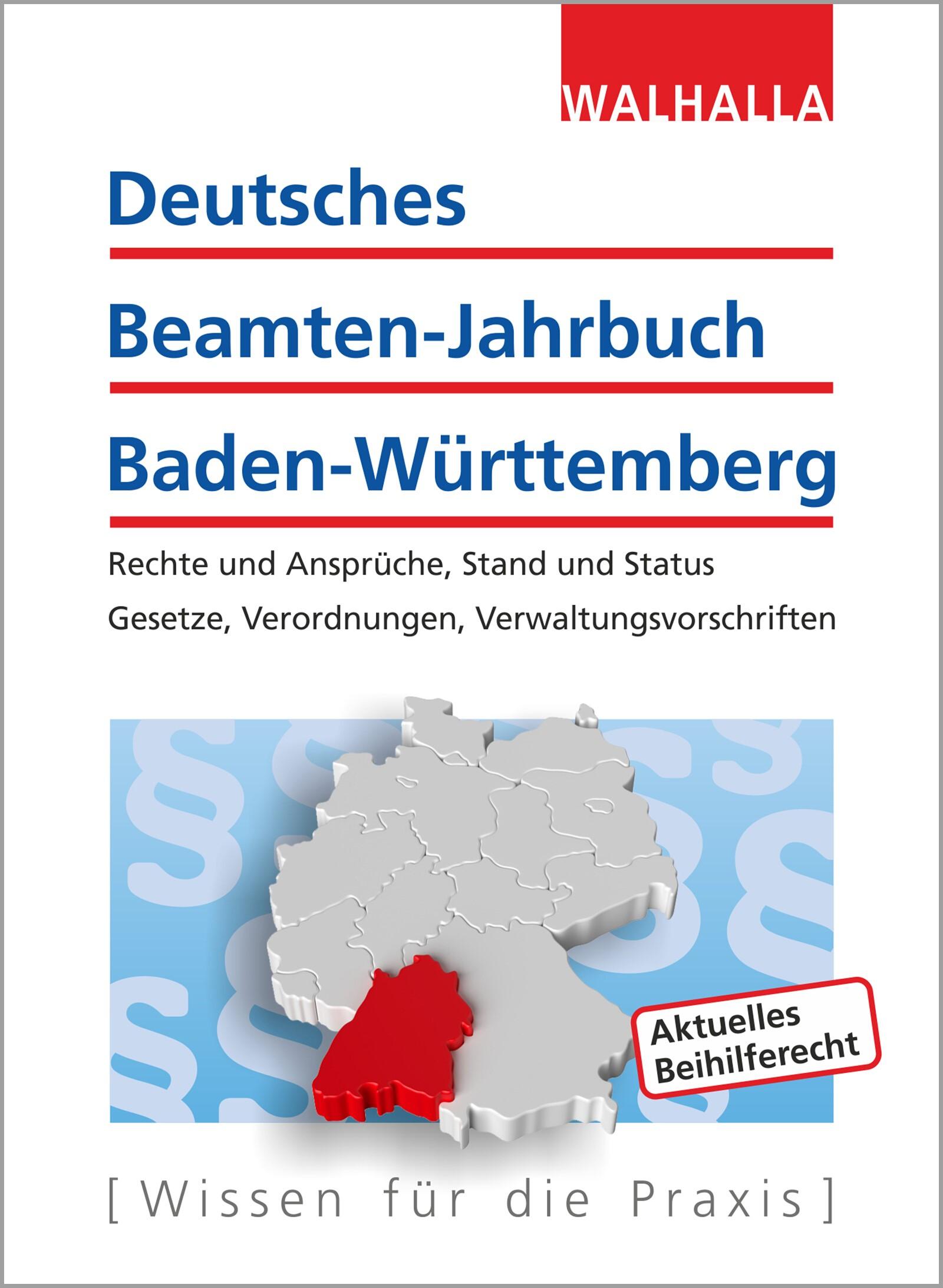Deutsches Beamten-Jahrbuch Baden-Württemberg Jahresband 2017 | Walhalla Fachredaktion | 8. Auflage, 2017 | Buch (Cover)
