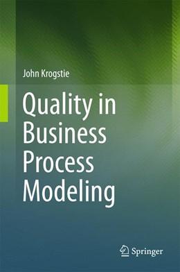 Abbildung von Krogstie   Quality in Business Process Modeling   1. Auflage   2016   beck-shop.de