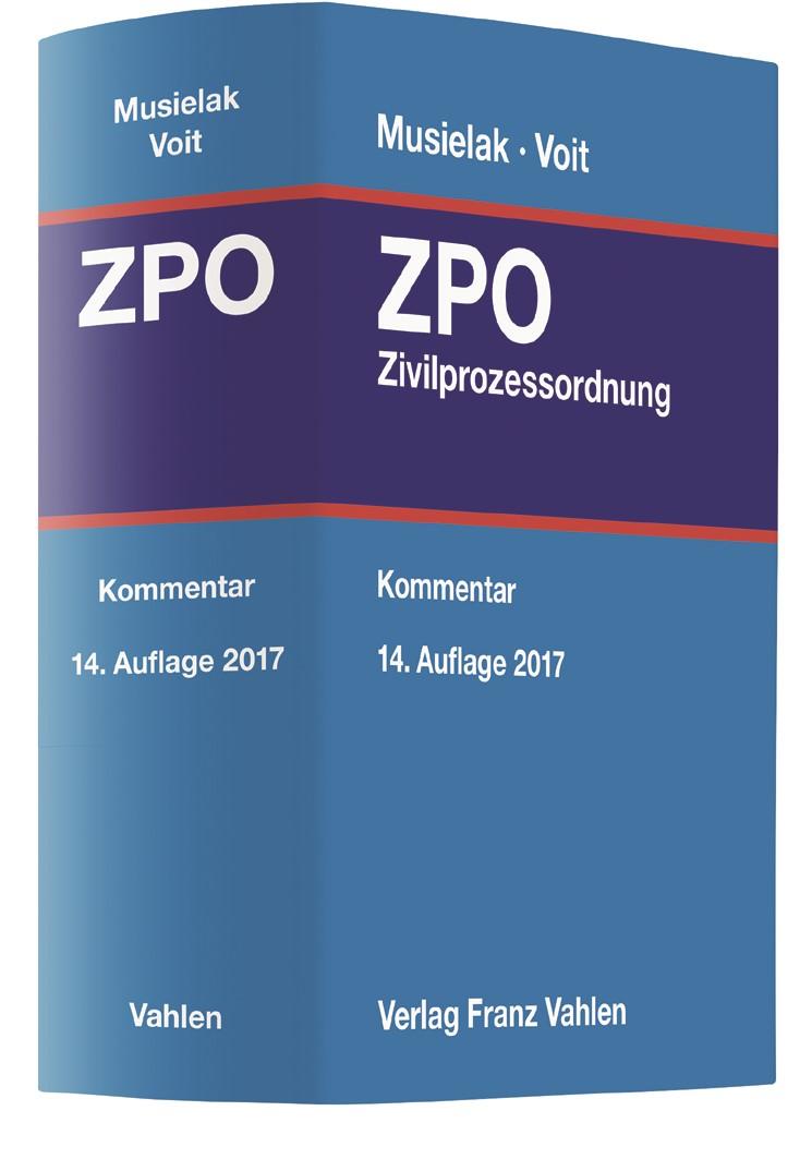 Zivilprozessordnung: ZPO | Musielak / Voit | 14., neubearbeitete Auflage, 2017 | Buch (Cover)
