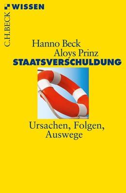 Abbildung von Beck / Prinz   Staatsverschuldung   2. Auflage   2013   2742   beck-shop.de