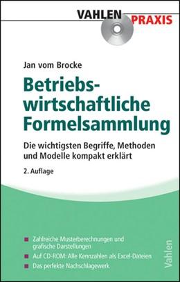 Abbildung von Brocke | Formelsammlung zur Betriebswirtschaftslehre | 2. Auflage | 2014 | Die wichtigsten Begriffe, Meth...