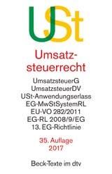 Umsatzsteuerrecht: USt | 35., überarbeitete Auflage, 2017 | Buch (Cover)