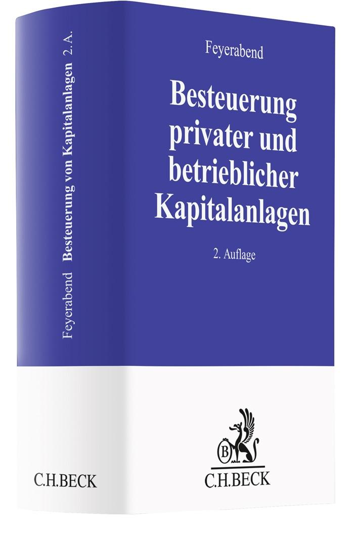 Besteuerung privater und betrieblicher Kapitalanlagen | Feyerabend | 2. Auflage, 2019 | Buch (Cover)