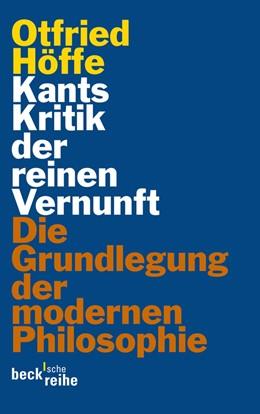 Abbildung von Höffe | Kants Kritik der reinen Vernunft | 2011 | Die Grundlegung der modernen P... | 1972