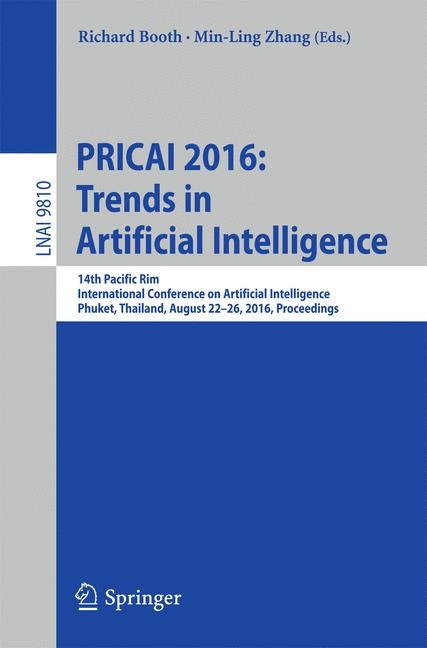 PRICAI 2016: Trends in Artificial Intelligence | Booth / Zhang | 1st ed. 2016, 2016 | Buch (Cover)